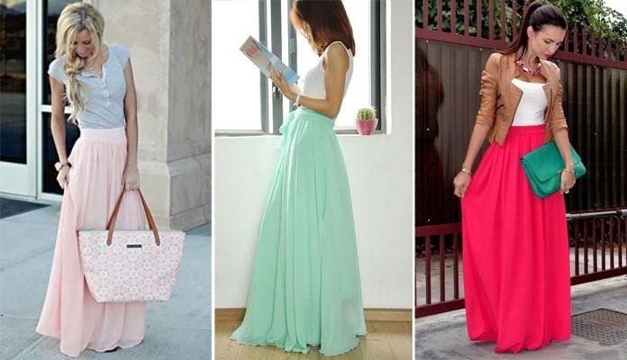 9c3d423cdacd 20 εντυπωσιακές προτάσεις με μακριές φούστες - Όλα Για Την Γυναίκα