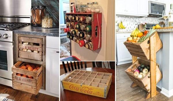 Ξύλινα καφάσια: Ένα ρουστίκ στυλ αποθήκευσης στην κουζίνα σας ...