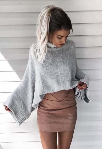 d3e1e95e565b 35 εντυπωσιακοί συνδυασμοί με γυναικείο πουλόβερ - Όλα Για Την Γυναίκα