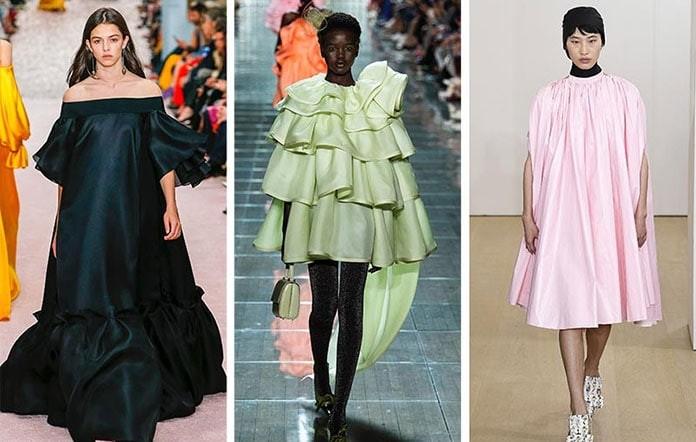 f3b784b143c Ένα ακόμη fashion trend που ξεχώρισε στις πασαρέλες ήταν τα ογκώδη βραδινά  φορέματα. Κάποιοι οίκοι προτίμησαν να διατηρήσουν τα σχέδια τους απλά, ...
